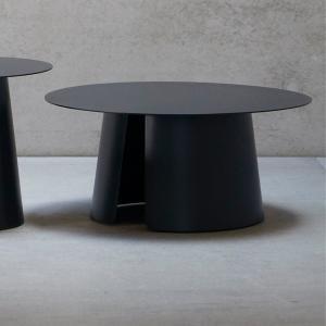 Príručný stôl FEEL | Ø 80 cm » čierna