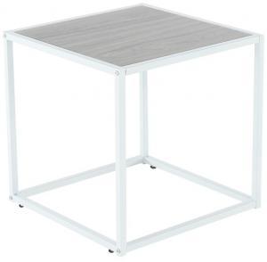 Príručný stolík, dub/biela, JAKIM TYP 2 NEW