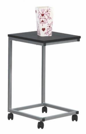 Príručný stolík MANNY čierna / strieborná Tempo Kondela