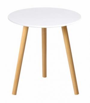 Príručný stolík PAMINO biela / prírodná Tempo Kondela