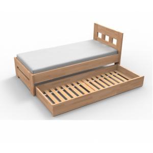 Prístelka pod posteľ Materiál: BUK morenie tabak