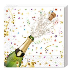PROCOS - Servítky Šampanské 33x33cm 20ks