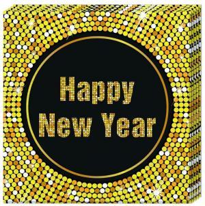 PROCOS - Servítky Šťastný nový rok 33x33cm 20ks