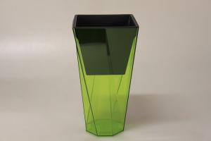 PROSPERPLAST - Kvetináč Urbi Twist 14 cm - zelený