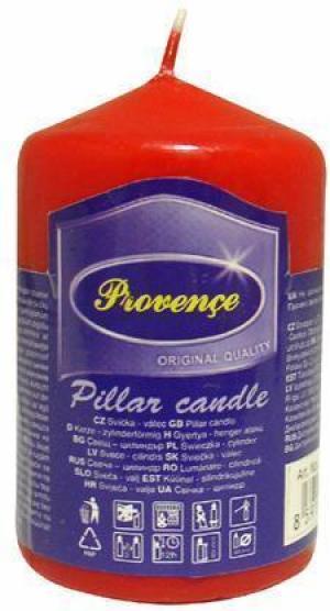 Provence Neparfumovaná sviečka PROVENCE 8cm červená
