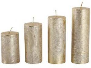 Provence Rustikálna adventná sviečka ø4cm PROVENCE 4 velikosti zlatá