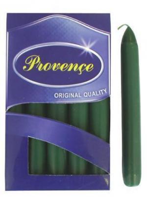 Provence Sviečka 17cm PROVENCE Bistro 10ks tmavo zelená