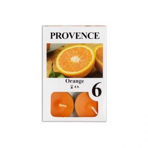 Provence Čajová sviečka PROVENCE 6ks pomaranč