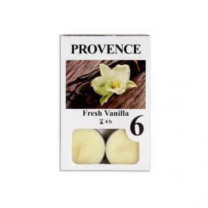 Provence Čajová sviečka PROVENCE 6ks vanilka