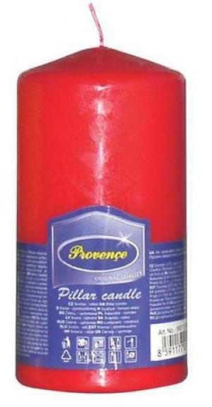 Provence Neparfumovaná sviečka PROVENCE 12,5cm červená