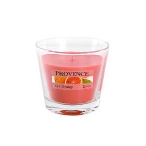 Provence Vonná sviečka v skle PROVENCE 140g,červený pomaranč