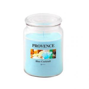 Provence Vonná sviečka v skle PROVENCE 510g, Blue Cocktail