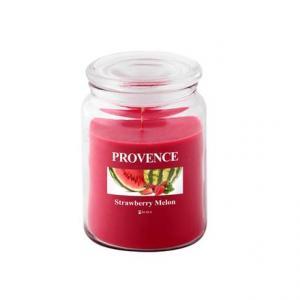 Provence Vonná sviečka v skle PROVENCE 510g, jahoda a melón