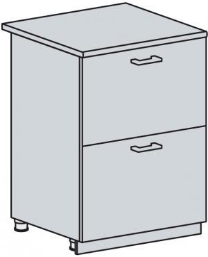 PROVENSAL 60 dolná s 2 zásuvkami, sv. modrá, kor. biely
