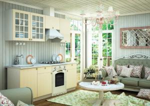 PROVENSAL II kuchynská zostava 210 vanilka s drezovou skrinkou