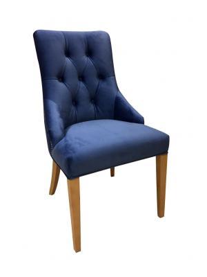 PYKA Lux jedálenské kreslo drevo D3 / kráľovská modrá (Fresh 11)