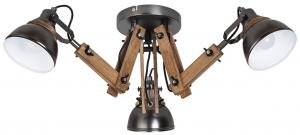Rabalux 2724 - Prisadený luster AKSEL 3xE14/15W/230V čierna