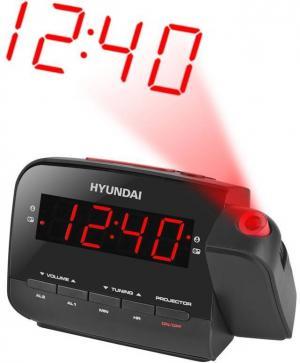 Rádiobudík Hyundai RAC 481 PLLBR čierny/červený
