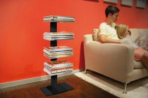 Radius design cologne Knihovna na časopisy 4 poličky RADIUS DESIGN (BOOKSBAUM MAGAZINE STAND SMALL čierna 738A) čierna