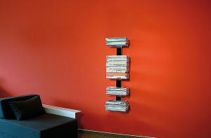 Radius design cologne Knihovna na časopisy 5 poliček RADIUS DESIGN (BOOKSBAUM MAGAZINE WELL SMALL black 739A) čierná