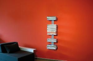 Radius design cologne Knihovna na časopisy 5 poliček RADIUS DESIGN (BOOKSBAUM MAGAZINE WELL SMALL silver 739C) strieborná