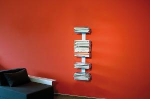 Radius design cologne Knihovna na časopisy 5 poliček RADIUS DESIGN (BOOKSBAUM MAGAZINE WELL SMALL white 739B) bielá