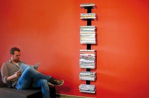 Radius design cologne Knihovna na časopisy 8 poliček RADIUS DESIGN (BOOKSBAUM MAGAZINE WALL BIG black 746A) čierná