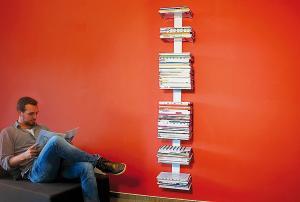 Radius design cologne Knihovna na časopisy 8 poliček RADIUS DESIGN (BOOKSBAUM MAGAZINE WALL BIG white 746B) bielá
