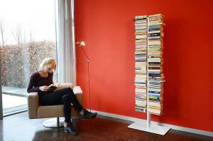 Radius design cologne Knižnica 16 poličiek RADIUS DESIGN (BOOKSBAUM weiss STAND GROSS 717B) biela