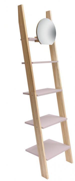 RAGABA Ashme rebrík úzky so zrkadlom, ružová