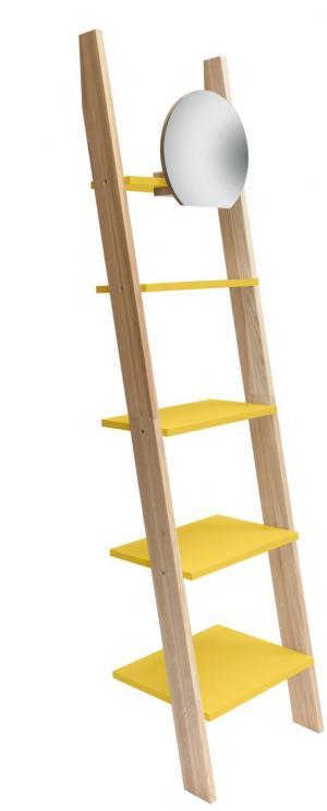 RAGABA Ashme rebrík úzky so zrkadlom, žltá