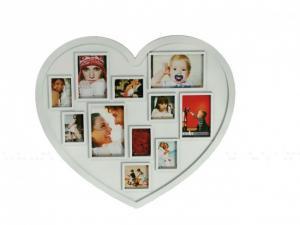 Rámik na fotky srdce biely, Srdce 63 x 48 cm, gm2349
