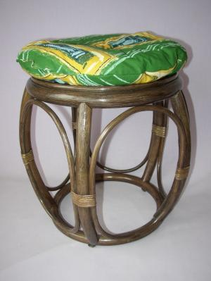 ratanová taburetka široká hnedá