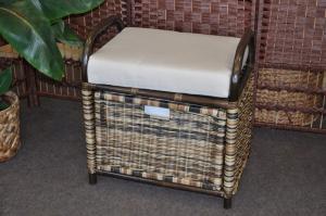 ratanová taburetka so zásuvkou wicker mix