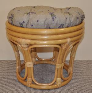 ratanová taburetka veľká medová