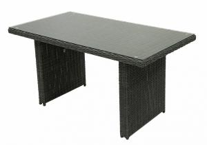 Ratanový stôl 140x80 cm SEVILLA (antracit)
