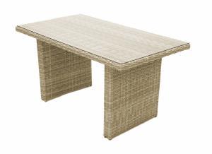 Ratanový stôl 140x80 cm SEVILLA (béžová)