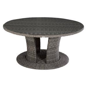 Ratanový stôl jedálenský BORNEO priemer 160 cm (sivá)