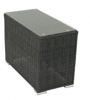 Ratanový stolek bočný SEVILLA (antracit)
