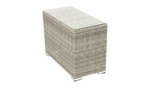 Ratanový stolek bočný SEVILLA (sivá)
