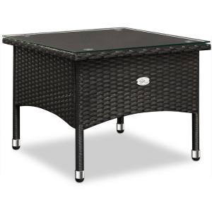Ratanový stolík čierna 58 x 58 x 42cm