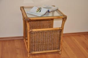 ratanový stolík Oliver malý - brown wash