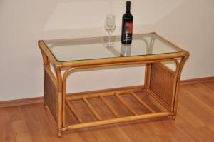 ratanový stolík Oliver veľký - brown wash