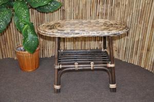 ratanový stolík Selangor oválny - wickwe mix