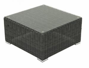 Ratanový stolík/taburet SEVILLA (antracit)