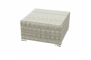 Ratanový stolík/taburet SEVILLA (sivá)