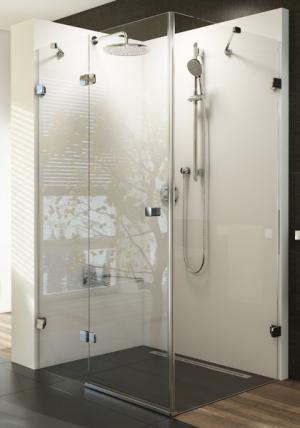 Ravak Brilliant sprchový kút BSDPS-100x80 L chróm / transparent ľavý