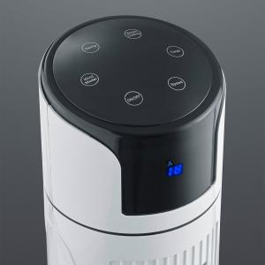 Reality Leuchten Stojací ventilátor Iceberg s dotykovým displejom