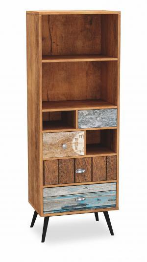 Regál: HALMAR MEZO REG-1 HALMAR - drevo: drevotrieska/ oceľ - viacfarebný