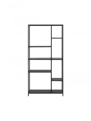 Regál / knižnica Lyfte, 165 cm, čierna